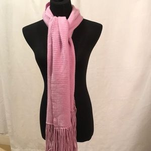 Kinross Cashmere long scarf with fringe